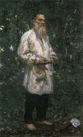 Л.Н.Толстой босой. 1891