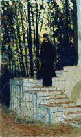 Женская фигура на фоне пейзажа. 1883