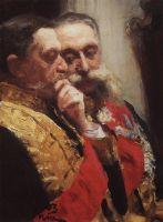 Портрет И.Л.Горемыкина и Н.Н.Герарда, членов государственного совета. 1903