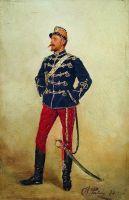 Молодой мужчина в военной форме. 1873