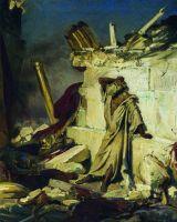 Плач пророка Иеремии на развалинах Иерусалима. 1870