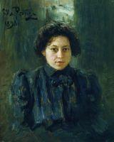 Портрет Репиной, дочери художника. 1898
