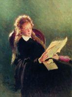 Читающая девушка. 1876