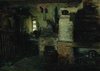 В избе. 1895