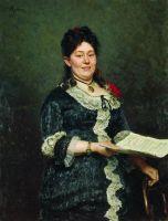 Портрет певицы А.Н.Молас. 1883