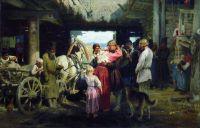 Проводы новобранца. 1879