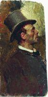 Мужчина в цилиндре. 1875