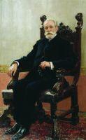 Портрет председателя Азовско-Донского коммерческого банка в Петербурге А.Б.Нентцеля. 1908