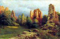 Руины старого замка. Холст, масло. 63 x 94 Горловка