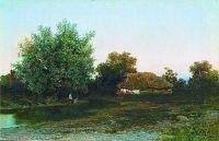 Хата над прудом, 1881, холст, масло; 34х52,5