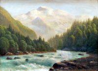 Горная речка. 1890-1900-е 34,5х47