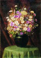 Букет цветов. Холст, масло. 62 x 44.5 ЧС