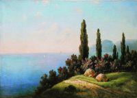 Крым. Вид на море. 1900-е Холст, масло. 70.5 x 97.5 ЧС