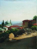 Крымский пейзаж. Конец 1880-х Холст, масло. 67 x 50.5 ЧС