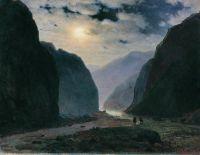 Лунная ночь в горах. 1881 Холст, масло. 50 x 62 Владикавказ