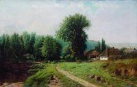 Сельский пейзаж. 1880-е Холст, масло. 75 x 115.5 ЧС (Копия с Крыжицкого q)
