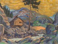 Избушка в горах. Эскиз декорации к драме Г.Ибсена Пер Гюнт