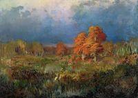 Болото в лесу. Осень. 1871-1873