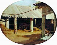 Деревенский двор. 1867
