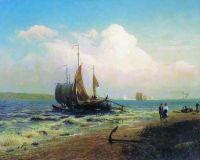 На реке. Ветреный день. 1869
