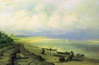 Берег Волги после грозы. 1871
