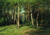 Полдень в лесу. 1888