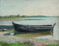 Лодка на реке. 1880-e