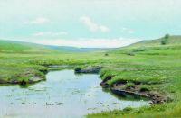 Заросшая река. 1895