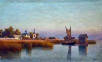 Вид городка со стороны реки. 1887