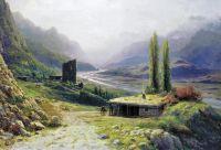 Кавказское ущелье. 1893