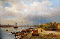 Вид на Неву и Петропавловскую крепость. 1859