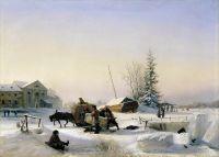 Возка льда. 1849