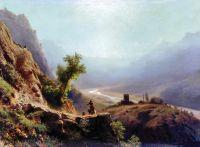 В горах Кавказа. 1879