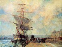 Корабль в порту Руана