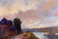 Буксир на Сене, вниз по течению от Руана
