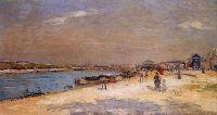 Порт Берси, разгрузка барж с песком