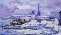 Руан, снег