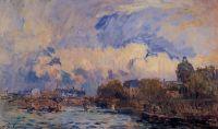 Париж, Сена, мосту Искусств и Институт