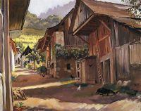 Альпы. Деревня в Савойе.
