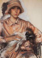 Портрет дамы с собачкой. И.Велан.