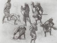 Семь женских фигур.