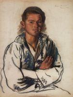 Портрет молодого рыбака.