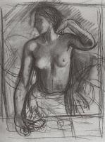 Этюд к женскому портрету.