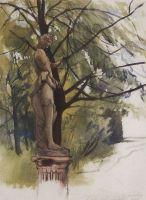Статуя фавна в саду дома Юсуповых в Петрограде.