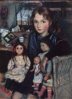 Катя с куклами.