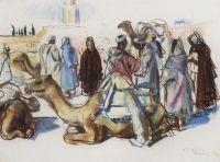Рынок с верблюдами. Марракеш.