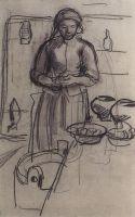 Крестьянка на кухне.