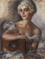 Портрет Е.Н.Гейденрейх в белом парике.