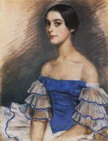 Портрет Е.Н.Гейденрейх в голубом.