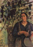 Итальянская крестьянка в винограднике.